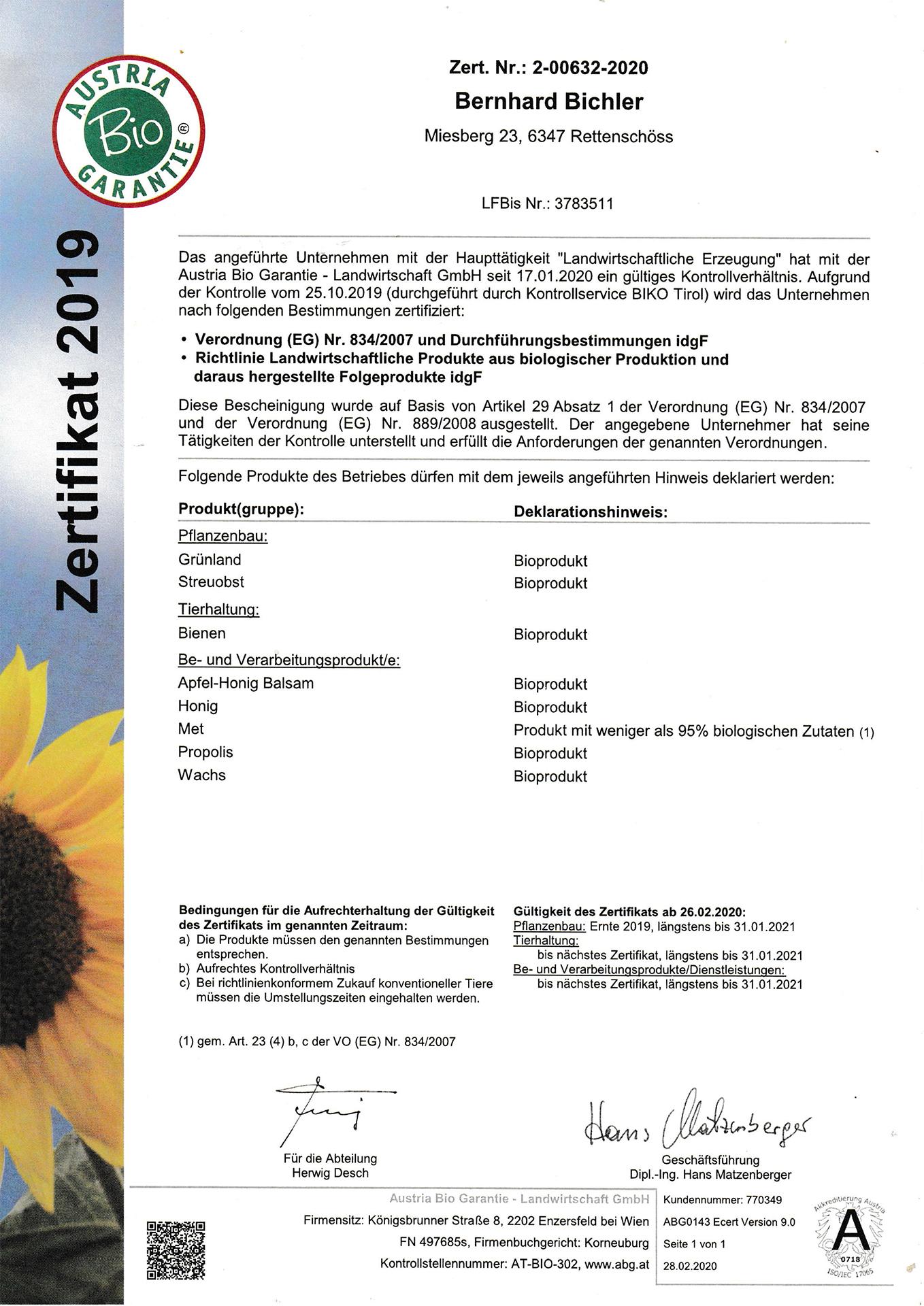 BAZertifikat